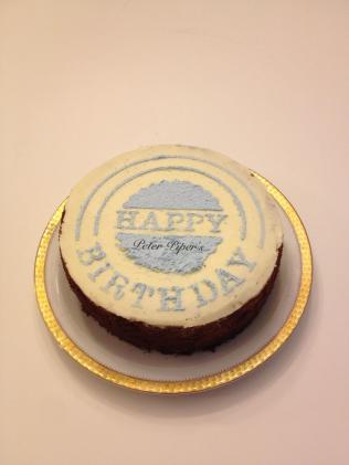 Simple Buttercream Happy Birthday Cake