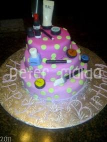 Mac make up designer cake