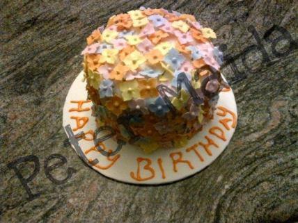 Flower filled Cake