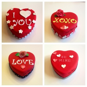 Cute & romantic Valentines Day cakes!