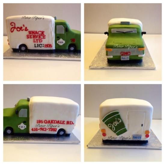 3D Coffee Truck Cake